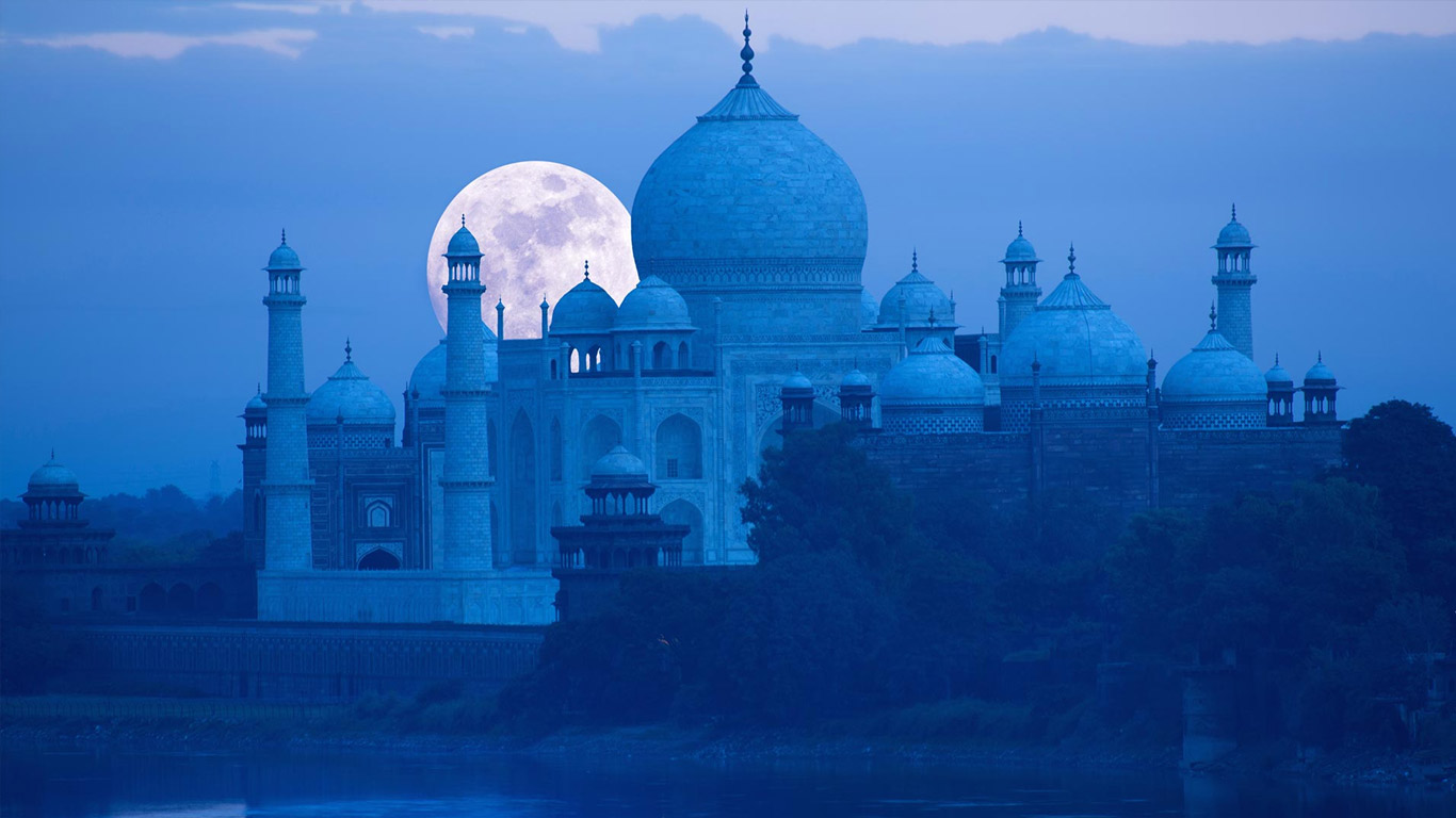 Moonlight visit of Taj Mahal at Night in Agra